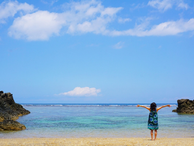沖縄に一人旅